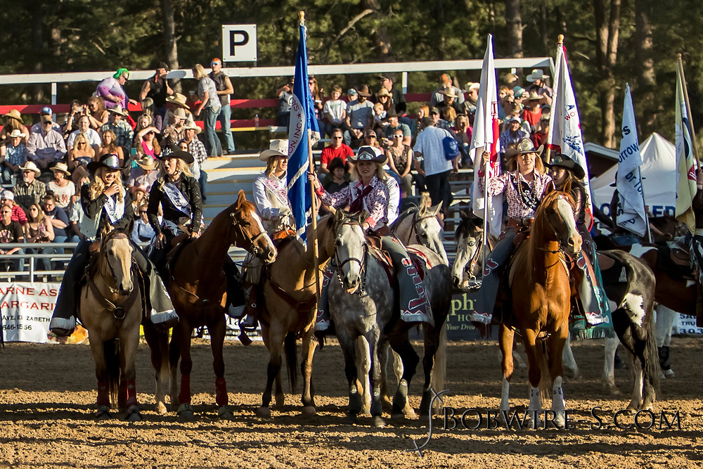 Grand entry of the second perf of the Elizaberth Stampede on Saturday, June 2, 2018.