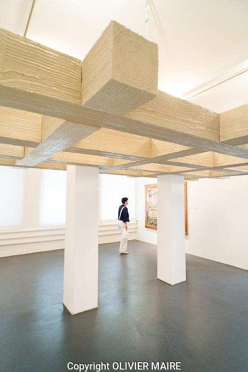 le vernissage au Musées des Ancien pénitencier de Sion de l'Expo Ecole de Savièse en 22 juillet 2012.Musées d'Art du Valais..(PHOTO-GENIC.CH/ OLIVIER MAIRE)