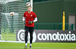 WREXHAM, WALES - Wednesday, June 5, 2019: Wales' goalkeeper Wayne Hennessey during a training session at Colliers Park ahead of the UEFA Euro 2020 Qualifying Group E match between Croatia and Wales. (Pic by David Rawcliffe/Propaganda)