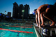Belo Horizonte_MG, Brasil...Treino da equipe de natacao do Minas Tenis Clube em Belo Horizonte, Minas Gerais. Na foto, o atleta Reinaldo Belli de Souza Alves Costa de 16 anos...Swimming team training at Minas Tenis Club in Belo Horizonte, Minas Gerais. In this photo, the athlete Reinaldo Belli de Souza Alves Costa with 16 years old...Foto: BRUNO MAGALHAES / NITRO