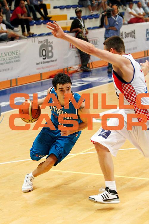 DESCRIZIONE : Roseto degli Abruzzi Torneo Bandiera Blu Italia Croazia<br /> GIOCATORE : Marco Passera<br /> SQUADRA : Nazionale Italia Uomini <br /> EVENTO : Torneo Internazionale Bandiera Blu di Roseto degli Abruzzi<br /> GARA : Italia Croazia<br /> DATA : 30/05/2008 <br /> CATEGORIA : Palleggio<br /> SPORT : Pallacanestro <br /> AUTORE : Agenzia Ciamillo-Castoria/C.De Massis<br /> Galleria : Fip Nazionali 2008<br /> Fotonotizia : Roseto degli Abruzzi Torneo Bandiera Blu Italia Croazia<br /> Predefinita :