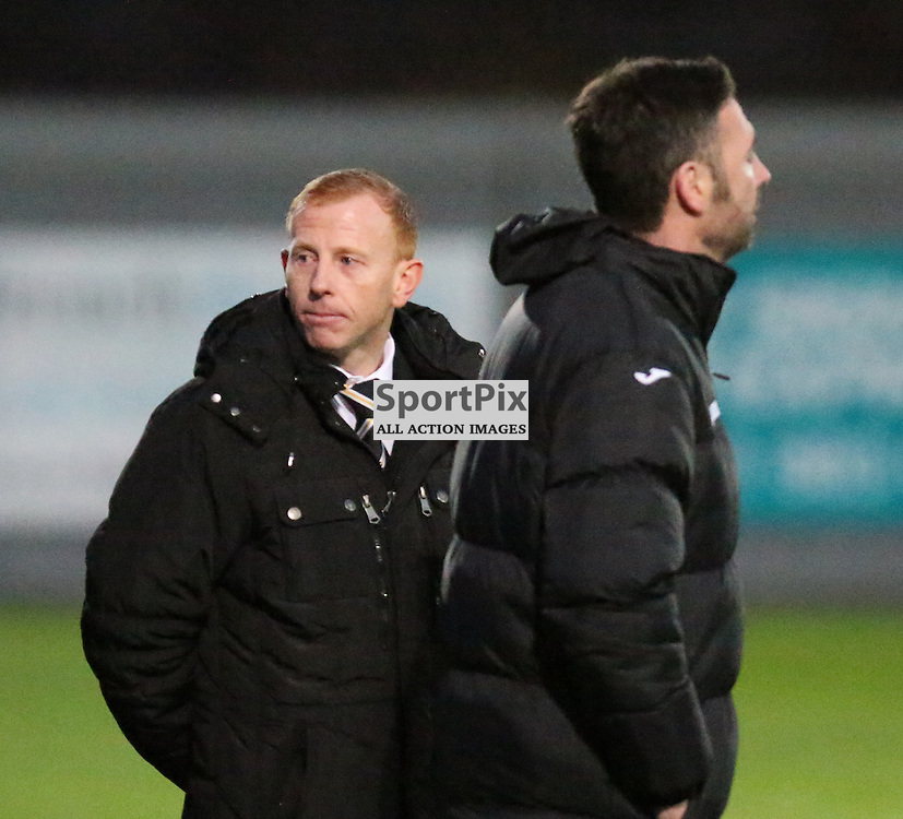 Stevie Aitkin looks to his bench during the Dumbarton v Raith Rovers Scottish Championship 21  November 2015 <br /> <br /> (c) Andy Scott | SportPix.org.uk
