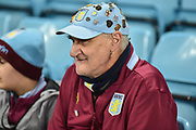 A Villa with Badges on his cap during the EFL Sky Bet Championship match between Aston Villa and Nottingham Forest at Villa Park, Birmingham, England on 28 November 2018.