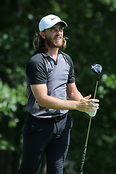 September 2, 2018 - Norton, Massachusetts, United States - Tommy Fleetwood tees off the 4th hole during the third round of the Dell Technologies Championship. (Credit Image: © Debby Wong/ZUMA Wire)