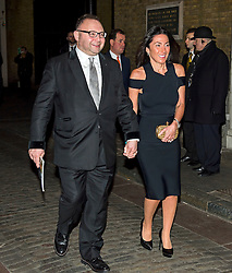 © Licensed to London News Pictures. 08/02/2016. London, UK. Jonathan Shalit and his wife leave The Brewery in London after the annual Conservative Party Black & White Ball, a Conservative Party fundraiser.  Photo credit: Ben Cawthra/LNP