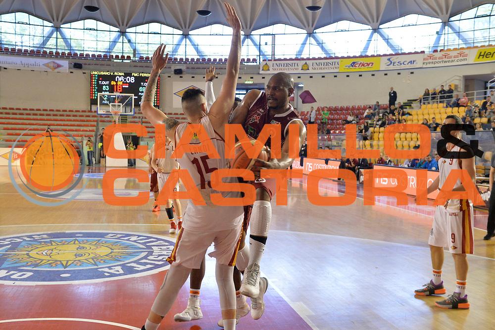 Benjamin Raymond<br /> Unicusano Virtus Roma - FMC Ferentino<br /> Campionato Basket LNP 2016/2017<br /> Roma 15/04/2017<br /> Foto M.Ceretti / Ciamillo-Castoria