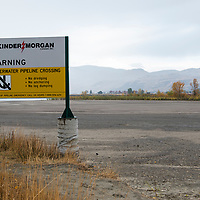 The south shore of the Fraser River in Kamloops B.C. where the proposed Kinder Morgan Trans Mountain Pipeline would cross the river underwater.
