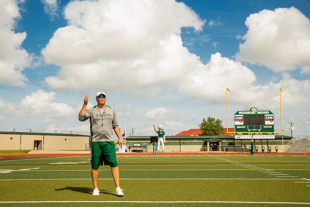 Waxahachie, Texas - September 5, 2015: Jon Kitna, Head Football Coach at Waxahachie High School in Waxahachie, Texas. (Darren Carroll for ESPN)