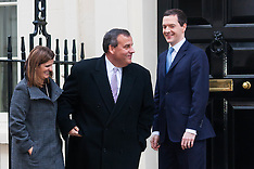2015-02-03 Presidential hopeful Chris Christie visits British Chancellor at Downing Street