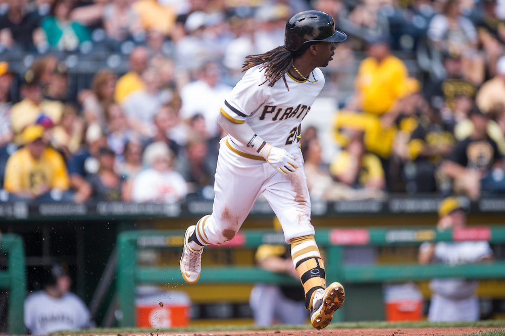 PITTSBURGH, PA - JUNE 08: Andrew McCutchen #22 of the Pittsburgh Pirates runs the bases during the game against the Milwaukee Brewers at PNC Park on June 8, 2014 in Pittsburgh, Pennsylvania. (Photo by Rob Tringali) *** Local Caption *** Andrew McCutchen