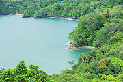 View to the Pacific ocean shore near Quepos, Costa Rica.