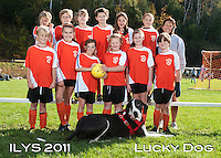 Inter Lakes Youth Soccer League Lucky Dog Team October 15, 2011.