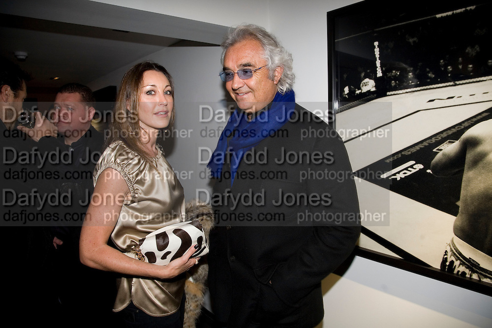 TAMARA MELLON AND FLAVIO BRIATORE. Kevin Lynch: Octagon - private view Hamiltons Gallery, 13 Carlos Place, London, W1, 17 January 2008. -DO NOT ARCHIVE-© Copyright Photograph by Dafydd Jones. 248 Clapham Rd. London SW9 0PZ. Tel 0207 820 0771. www.dafjones.com.