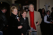 Mr. and Mrs. Nicholas Parsons and their grandson Tom Buchanan, Opening night of Dralion. Cirque de Soleil's 20th anniversary. Royal Albert Hall. 6 jan 2005. ONE TIME USE ONLY - DO NOT ARCHIVE  © Copyright Photograph by Dafydd Jones 66 Stockwell Park Rd. London SW9 0DA Tel 020 7733 0108 www.dafjones.com