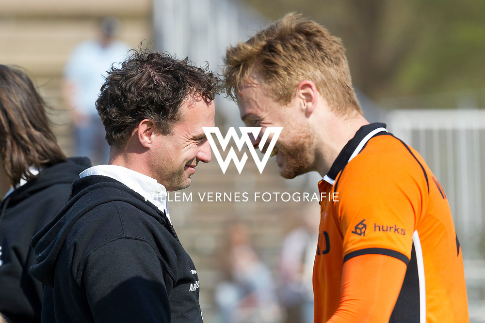 Eindhoven - OZ - HGC Heren, Hoofdklasse Hockey Heren, Seizoen 2015-2016, 01-05-2016, OZ - HGC 3-0, Jan Jorn van 't Land en Mink van der Weerden.
