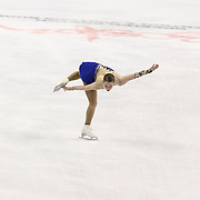 Kiri Baga competes during the championship ladies free skate at the 2014 US Figure Skating Championships at the TD Garden on January 11, 2014 in Boston, Massachusetts.