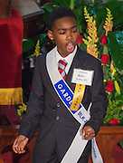 Robert Lane III of Valley West Elementary School performs during the Martin Luther King, Jr. Oratory Competition at Antioch Missionary Baptist Church, January 17, 2014.