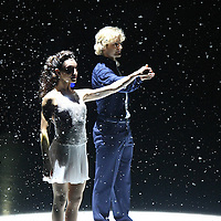 Olympic Gold medalists Meryl Davis and Charlie White perform on the ice during the Stars on Ice Figure Skating tour stop at the Amway Center on Sunday, April 6, 2014 in Orlando, Florida. (AP Photo/Alex Menendez)