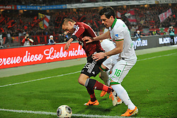 08.03.2014, easyCredit Stadion, Nuernberg, GER, 1. FBL, 1. FC Nuernberg vs SV Werder Bremen, 24. Runde, im Bild Adam Hlousek (1 FC Nuernberg / links) im Zweikampf mit Aleksandar Ignjovski (Werder Bremen / dahinter, verdeckt), Zlatko Junuzovic (Werder Bremen / rechts) Action / Aktion, Duell, Zweikampf // during the German Bundesliga 24th round match between 1. FC Nuernberg and SV Werder Bremen at the easyCredit Stadion in Nuernberg, Germany on 2014/03/08. EXPA Pictures © 2014, PhotoCredit: EXPA/ Eibner-Pressefoto/ Merz<br /> <br /> *****ATTENTION - OUT of GER*****