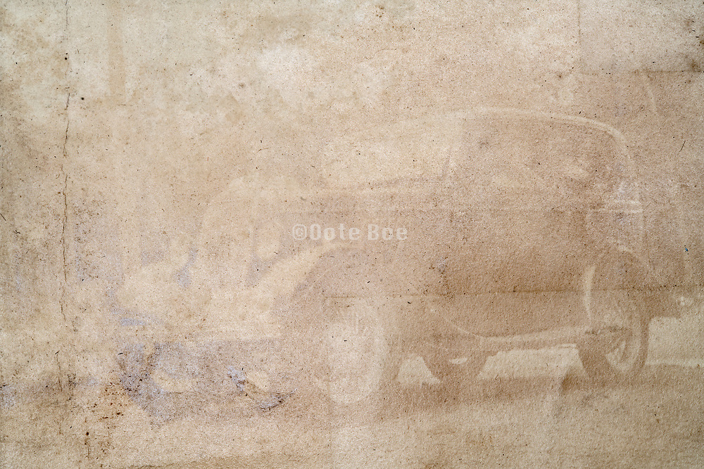 fading image of an automobile Japan ca 1930s