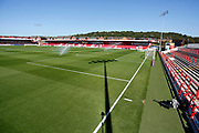 General view inside The Wham Stadium during the EFL Sky Bet League 1 match between Accrington Stanley and Blackpool at the Fraser Eagle Stadium, Accrington, England on 21 September 2019.