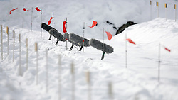 16.12.2011, Biathlonzentrum, Hochfilzen, AUT, E.ON IBU Weltcup, 3. Biathlon, Hochfilzen, Sprint Frauen, im Bild Windfahnen am Schiessstand // during Sprint women E.ON IBU World Cup 3th Biathlon, Hochfilzen, Austria on 2011/12/16. EXPA Pictures © 2011, PhotoCredit: EXPA/ Oskar Hoeher