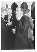 Lady Melchett, Antony Kinsman and John Gross. London party. 1982 approx. © Copyright Photograph by Dafydd Jones 66 Stockwell Park Rd. London SW9 0DA Tel 020 7733 0108 www.dafjones.com