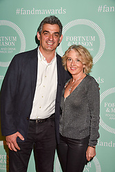 Bruno Loubet and Catherine Loubet at the 2017 Fortnum & Mason Food & Drink Awards held at Fortnum & Mason, Piccadilly London England. 11 May 2017.<br /> Photo by Dominic O'Neill/SilverHub 0203 174 1069 sales@silverhubmedia.com