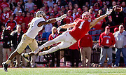 Nebraska wide receiver Jordan Westerkamp (1) beats Purdue safety Frankie Williams and reaches out for the ball but can't complete the catch on a play during the first quarter of Saturday's game against Purdue at Memorial Stadium in Lincoln. (Independent/Matt Dixon)