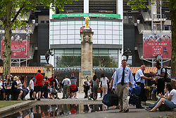 A general view of the West Gate 'Lion Gate' at Twickenham - Mandatory by-line: Ryan Hiscott/JMP - 27/05/2018 - RUGBY - Twickenham Stadium - London, England - England v Barbarians - Quilter Cup