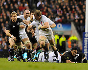 Twickenham, GREAT BRITAIN, England's Tom CROFT breaks with the ball, during the Investic Challenge Series, England vs New Zealand, Autumn International at Twickenham Stadium, Surrey on Saturday  21/11/2009   [Photo, Peter Spurrier/Intersport-images]