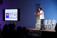 11 November 2010:  SoCal Action Sports Network Event at the Gothic Moon production studios in Orange, California.  Host Bryan Elliott. with guest speaker Scott Stratten who is an expert in Viral, Social, and Authentic Marketing and is on a book tour for UnMarketing 2.0