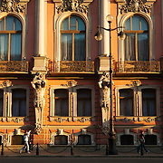 Belosselsky Belozersky Palace,  Дворе́ц Белосе́льских-Белозе́рских,  also known before the Revolution as the Palace of the Grand Duchess Elizabeth Fyodorovna, the Sergei Palace, and the Dmitry Palace is a Neo-Baroque palace at the intersection of the Fontanka River and Nevsky Prospekt in Saint Petersburg, Russia.<br /> Photography by Jose More
