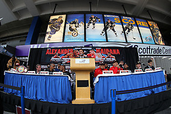 """Feb 23; St. Louis, MO, USA; Atmosphere shot during the final press conference for the February 25, 2012 fight card """"Arch Enemies"""".  Mandatory Credit: Ed Mulholland"""