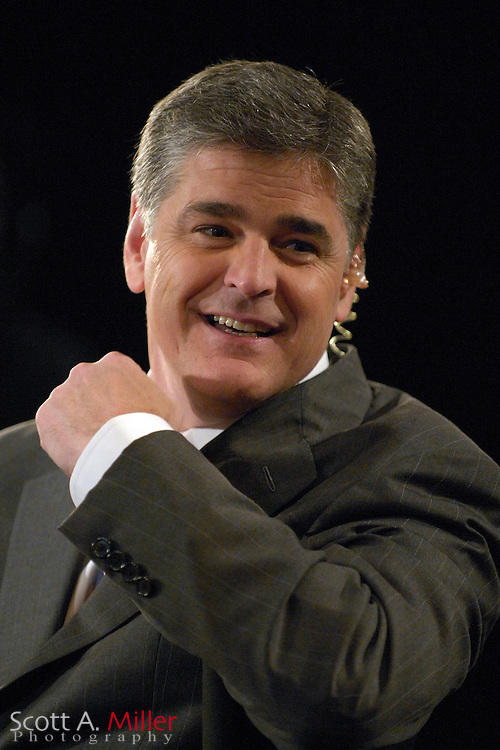 Orlando, Fla., USA; Oct. 21, 2007 - Fox News Channel's Sean Hannity, co-host of Fox News Channel's Hannity & Colmes, on the set following the Florida Republican debate hosted by FOX News in Orlando, Fla. ..©2007 Scott A. Miller
