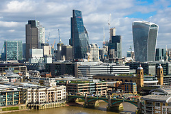 General view of the City of London skyline, London. Picture date: Thursday March 2nd, 2017. Photo credit should read: Matt Crossick/ EMPICS Entertainment.
