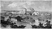 Phoenix Iron and Bridge Works, Phoenixville, Pennsylvania. From 'The Science Record', New York, 1873.
