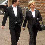 NLD/Utrecht/20060414 - Uitvaart Wout van Doleweerd, Anita Meijer en ex man en manager Ton de Leeuwe