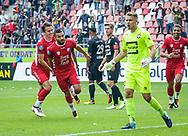 20-08-2017: Voetbal: FC Utrecht v Willem ll: Utrecht<br /> <br /> (L-R) FC Utrecht speler Zakaria Labyad heeft gescoord (1-0) tijdens het Eredivisie duel tussen FC Utrecht en Willem II op 20 augustus 2017 in stadion Galgenwaard te Utrecht<br /> <br /> Eredivisie - Seizoen 2017 / 2018 (speelronde 2)<br /> <br /> Foto: Gertjan Kooij