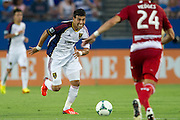 FRISCO, TX - JULY 13:  Javier Morales #11 of Real Salt Lake brings the ball up field against FC Dallas on July 13, 2013 at FC Dallas Stadium in Frisco, Texas.  (Photo by Cooper Neill/Getty Images) *** Local Caption *** Javier Morales