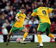 London - Saturday, January 12th, 2008:  Ched Evans of Norwich City during the Coca Cola Champrionship match at Oakwell, Barnsley. (Pic by Paul Hollands/Focus Images)