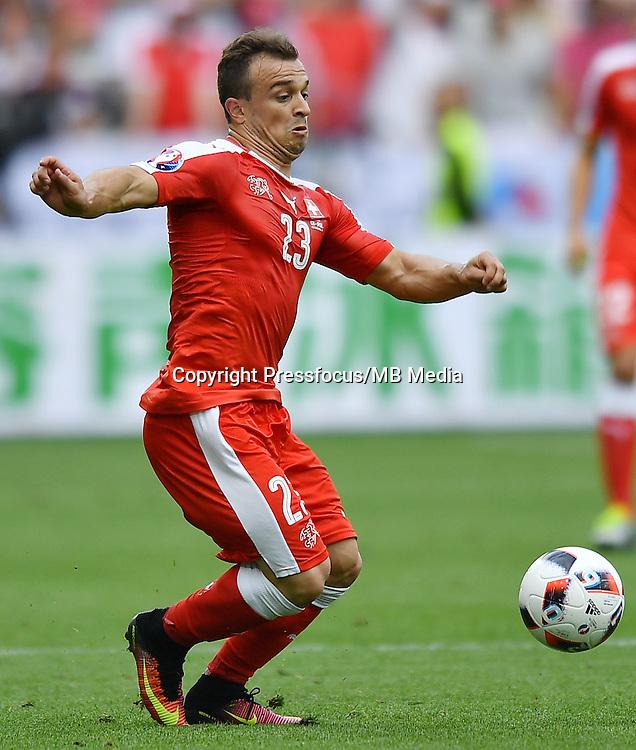 2016.06.25 Saint-Etienne<br /> Pilka nozna Euro 2016<br /> mecz 1/8 finalu Szwajcaria - Polska<br /> N/z Xherdan Shaqiri<br /> Foto Lukasz Laskowski / PressFocus<br /> <br /> 2016.06.25<br /> Football UEFA Euro 2016 <br /> Round of 16 game between Switzerland and Poland<br /> Xherdan Shaqiri<br /> Credit: Lukasz Laskowski / PressFocus