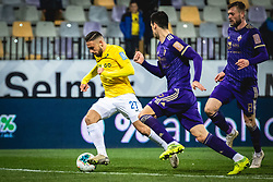 Aljoša Matko of Bravo and Nemanja Mitrović of Maribor and Alexandru Cretu during football match between NK Maribor and NK Bravo in 25th Round of Prva liga Telekom Slovenije 2019/20, on March 7, 2020 in Ljudski vrt, Maribor, Slovenia. Photo by Blaž Weindorfer / Sportida