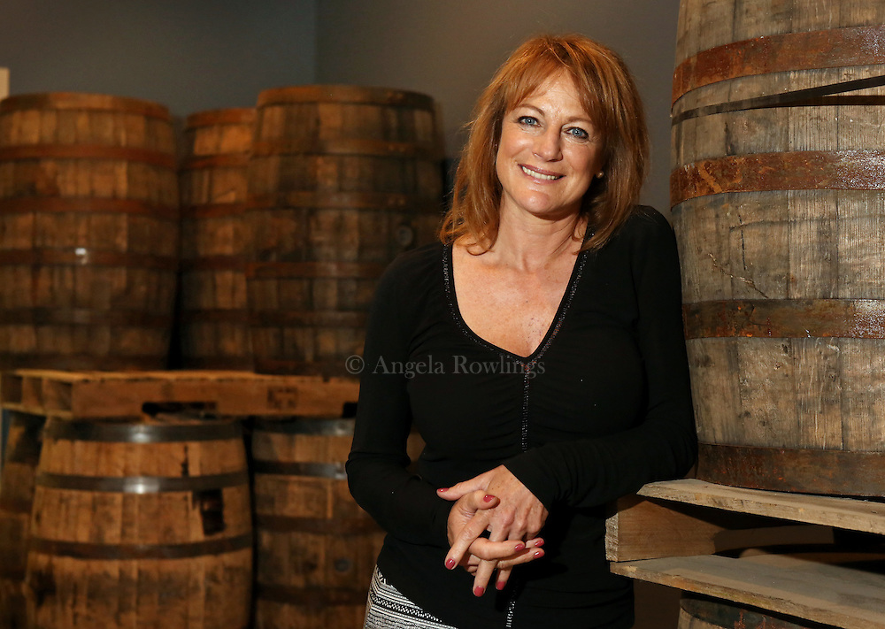 (Boston, MA - 6/8/15) Founder Rhonda Kallman is seen at Boston Harbor Distillery in the Port Norfolk neighborhood of Dorchester, Monday, June 08, 2015. Staff photo by Angela Rowlings.