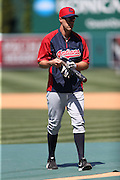 ANAHEIM, CA - APRIL 30:  David Murphy #7 of the Cleveland Indians looks on during batting practice before the game against the Los Angeles Angels of Anaheim at Angel Stadium on Wednesday, April 30, 2014 in Anaheim, California. The Angels won the game 7-1. (Photo by Paul Spinelli/MLB Photos via Getty Images) *** Local Caption *** David Murphy