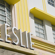 Leslie Hotel on Ocean Drive in South Beach, Miami