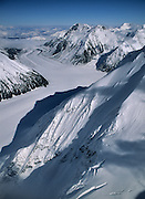 Peters Glacier, Alaska Range, Aerial Photo, Winter, Glacier, Crevasse, Ice, Snow, Mount McKinley, Denali National Park, Alaska