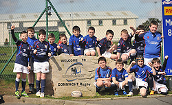 Westport Bulls Under 10 Mini rugby team at the junior cup final day where they played against Monivea U10's at the halftime interval.<br /> Pic Conor McKeown