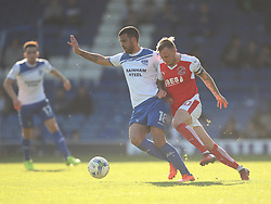 Jacob Mellis of Bury (L) and David Ball of Fleetwood Town in action - Mandatory by-line: Jack Phillips/JMP - 25/03/2017 - FOOTBALL - Gigg Lane - Bury, England - Bury v Fleetwood Town - Football League 1