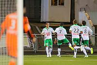 Joie Romain HAMOUMA / groupe Saint Etienne  -  17.12.2014 - Lorient / Saint Etienne - Coupe de la Ligue<br /> Photo : Vincent Michel / Icon Sport
